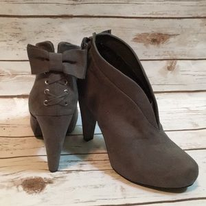 GUESS Gray Heels with Bow